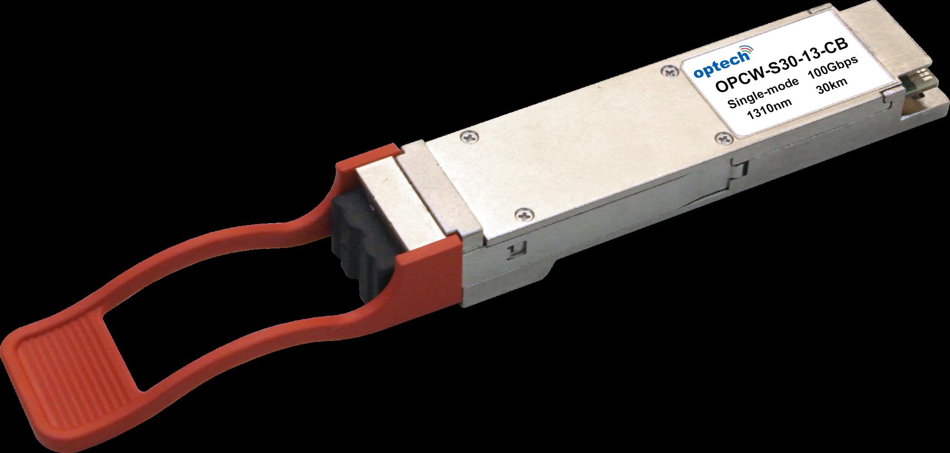 QSFP28 100G ER4 40KM SMF OPTICAL TRANSCEIVER OPCW-S30-13-CB