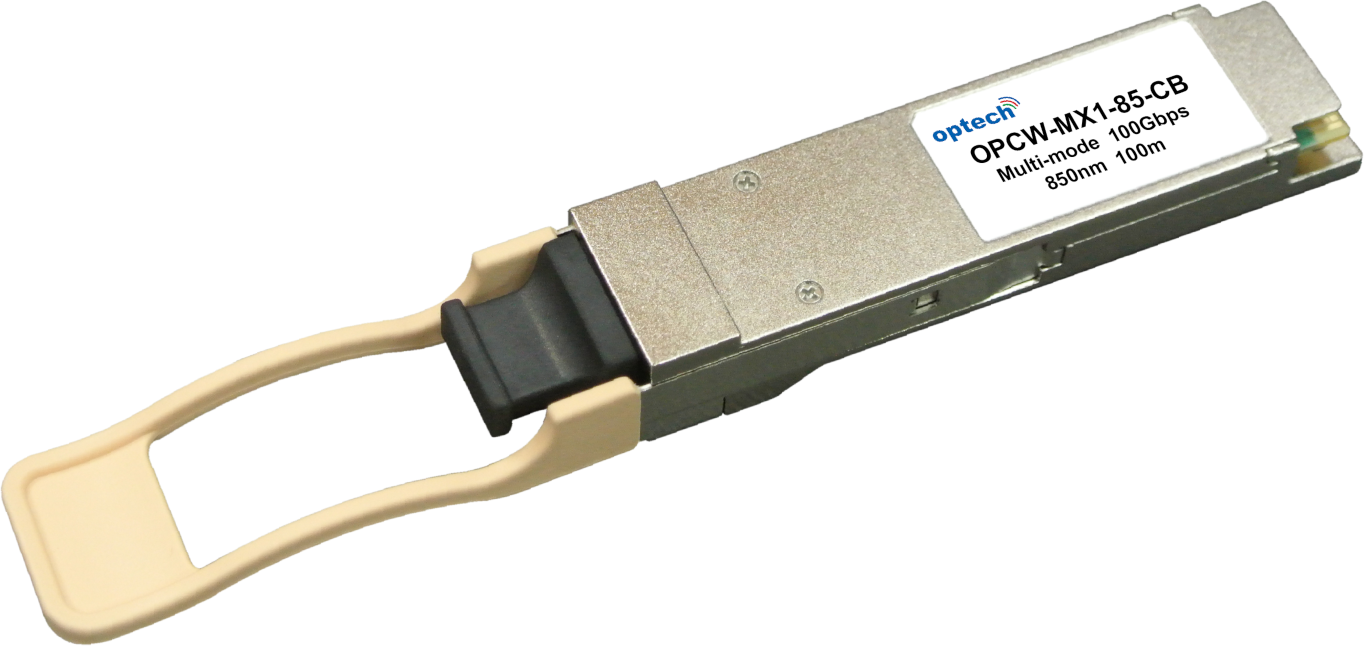 QSFP28 100G SR4 100M MMF OPTICAL TRANSCEIVER OPCW-MX1-85-CB