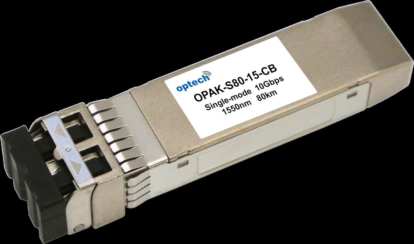 SFP+ 10G ZR 80KM SMF OPTICAL TRANSCEIVER OPAK-S80-15-CB