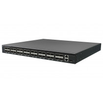 Netberg Aurora 720 100G BM switch preloaded with ICOS front angled view