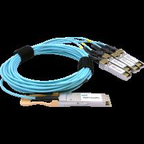 100G QSFP28 fanout AOC, 3m (OPQS28-F-03-A/SF28/4)