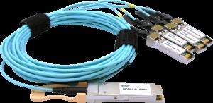 100G QSFP28 fanout AOC, 5m (OPQS28-F-05-A/SF28/4)