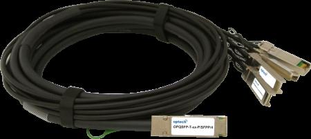 40G QSFP+ DAC fanout Passive, 3m (OPQSFP-T-03-P/SFPP/4)
